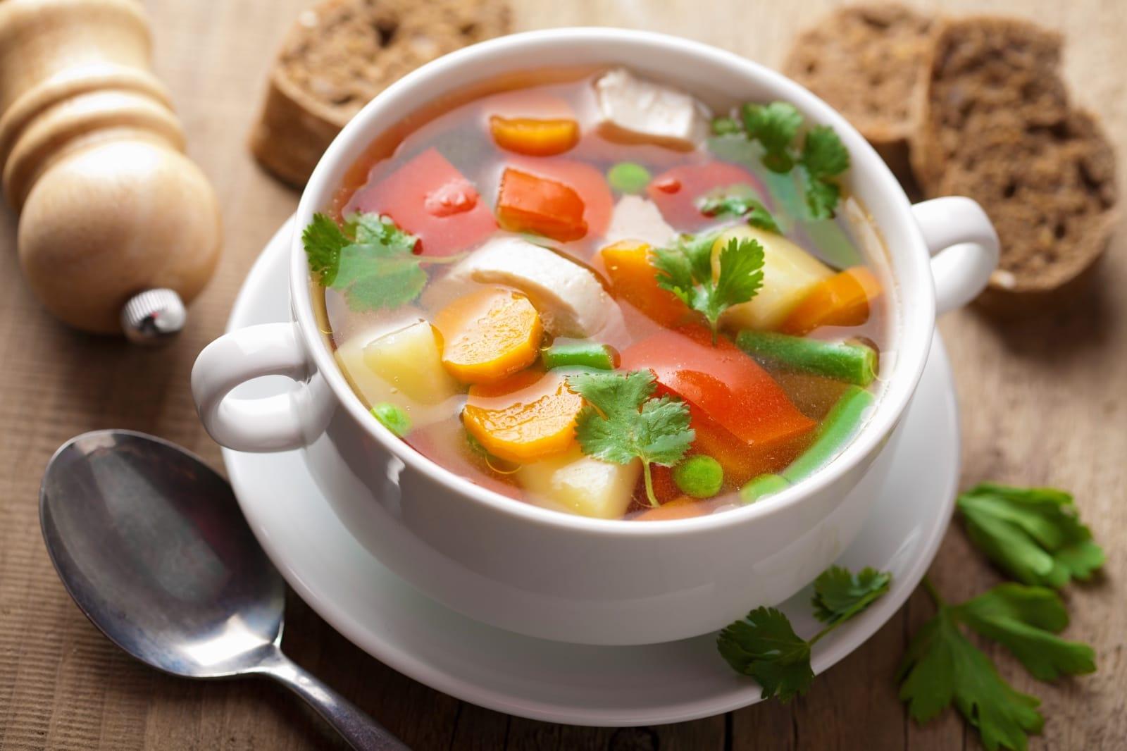 Овощной суп детский рецепт